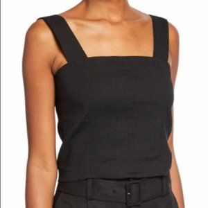 Vince Linen Wide Strap Cropped Top NWT